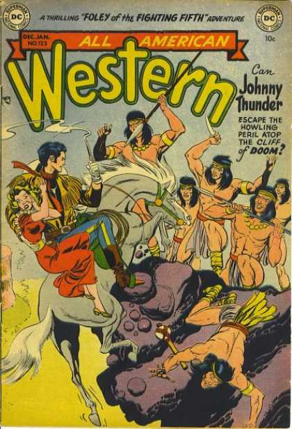 All-American Comics - All American Western - Tribals - Sword - Horse - One Lady - One Man