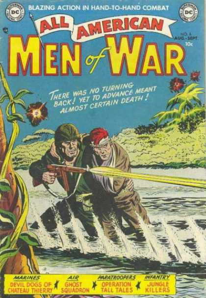 All-American Comics - All American Men of War - War - Combat - Paratroopers - Infantry - Marines