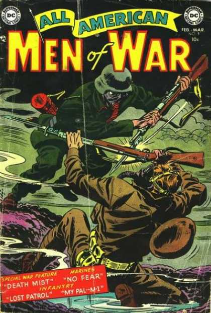 All-American Comics - All American Men of War - Marines - Infantry - Death Mist - Lost Patrol - No Fear