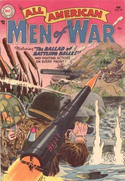 All-American Comics - All American Men of War - Men Of War - Superman - Belle - National Comics - Fighting Actions On Every Front