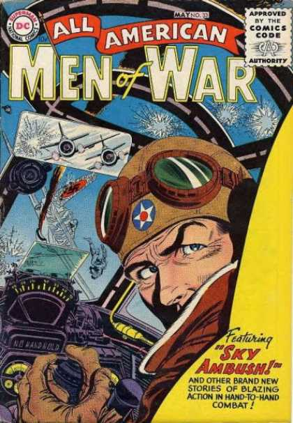 All-American Comics - All American Men of War - Bullet Holes - Dog Fight - Pilote - Plane - Two Planes Chasing One