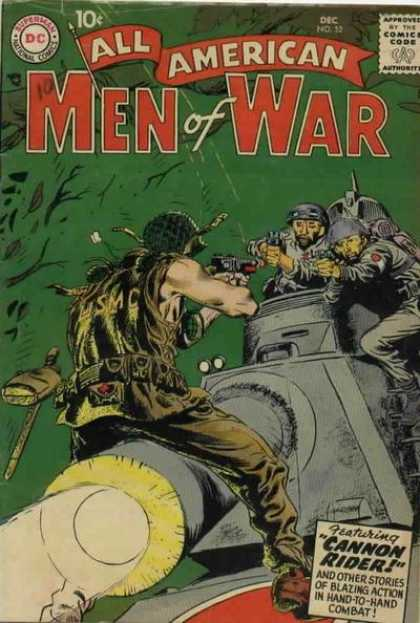 All-American Comics - All American Men of War - All American - Men Of War - Cannon Rider - Blazing Action - Hand-to-hand Combat