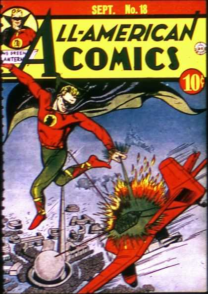 All-American Comics 18 - No 18 - Sept - Plane Crash - Super Hero - Green - Sheldon Moldoff