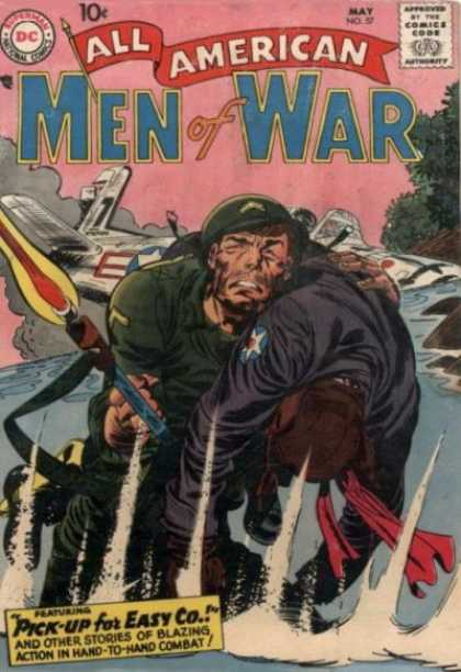 All-American Comics - All American Men of War - War Stories - Dc Comics - Silver Age - Easy Company - Soldiers