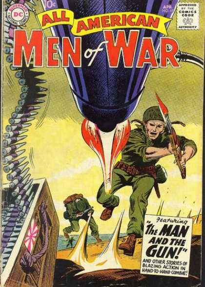 All-American Comics - All American Men of War - Dc - Men Of War - Man And The Gun - Soldiers - Blood