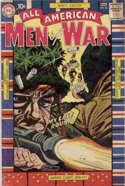 All-American Comics - All American Men of War - Navy Cross - Marine Corp Brevet - Distinguished Service Cross - Distinguished Flying Cross - Army And Navy