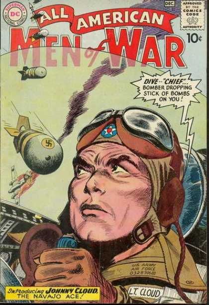 All-American Comics - All American Men of War - Men War - Dive Chief - Stick Of Bombs On You - Johnny Cloud - The Navajo Ace