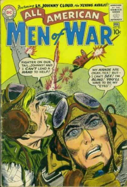 All-American Comics - All American Men of War - Airplane - Strafe - Pilot - Blind - Dogfight