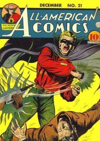 All-American Comics 21 - Gun - Battle - Costume - December - Men - Sheldon Moldoff