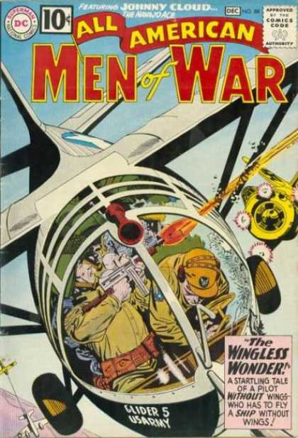 All-American Comics - All American Men of War - Dc - Superman - Approved By The Comics Code Authority - National Comics - Men Of America