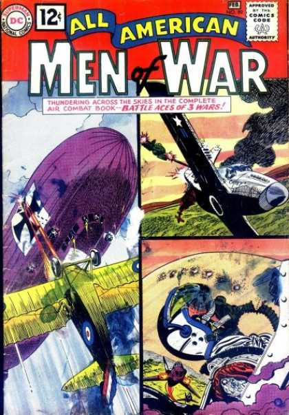 All-American Comics - All American Men of War - Dc - Superman - National Comics - Approved By The Comics Code Authority - Aeroplane
