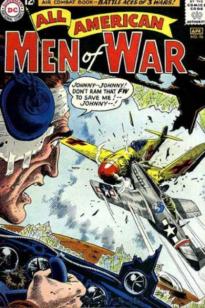 All-American Comics - All American Men of War - War - Dog Fight - Rescue - Johnny - Collision