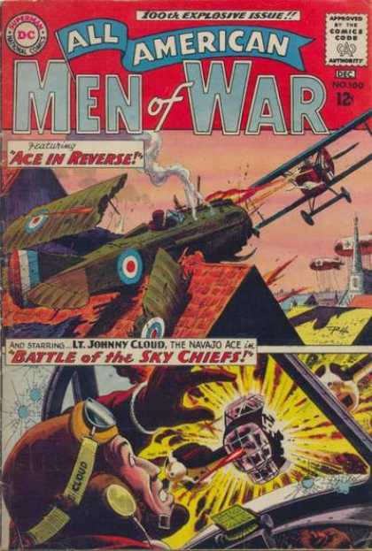 All-American Comics - All American Men of War - Men Of War - Plane - Ace In Reverse - Man - Battle Of The Sky Chiefs