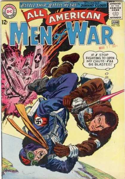 All-American Comics - All American Men of War - Plane Fight - Nazi Killer - Dedication - Fighting For Freedom - World War Ii