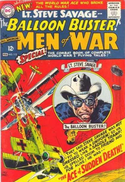 All-American Comics - All American Men of War - 12 Cents - Special - Lt Steve Savage - Dc - The Ace U0026 Sudden Death