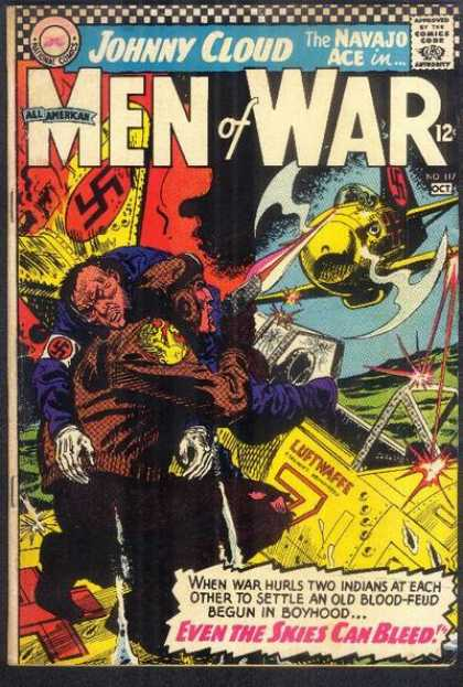 All-American Comics - All American Men of War - Johnny Cloud - Approved By The Comics Code - All Amerikan - Plane - Man