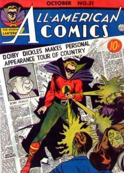 All-American Comics 31 - October No 31 - Doiby Dickles Makes Personal Appearance Tour Of Country - Laser - Newspaper - The Green Lantern - Martin Nodell
