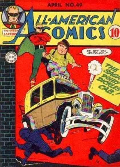 All-American Comics 49 - The Saga Doiby Dickles Cab - Clown - Taxi - Cab - Steam
