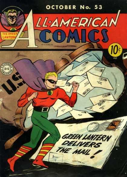 All-American Comics 53 - No 53 - The Green Lantern - Mail - A Superman Publication - October