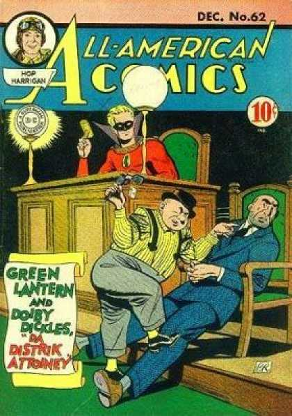 All-American Comics 62 - Hop Harrigan - Hammer - Chair - Green Lantern - Doiby Dicles