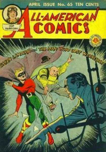 All-American Comics 65 - Green Lantern - Fighting - Ten Cents - Superman - Jumping