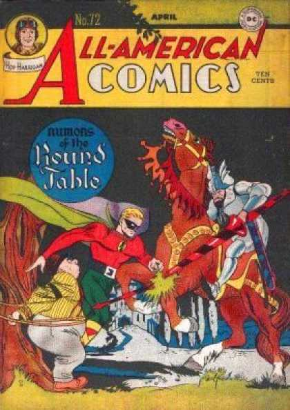 All-American Comics 72 - Rumors - The Round Table - Horse - Knight - Lance