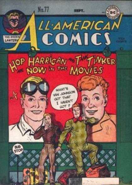 All-American Comics 77 - Luggage - Goggles - Orange Hair - Blond - Bus Stop