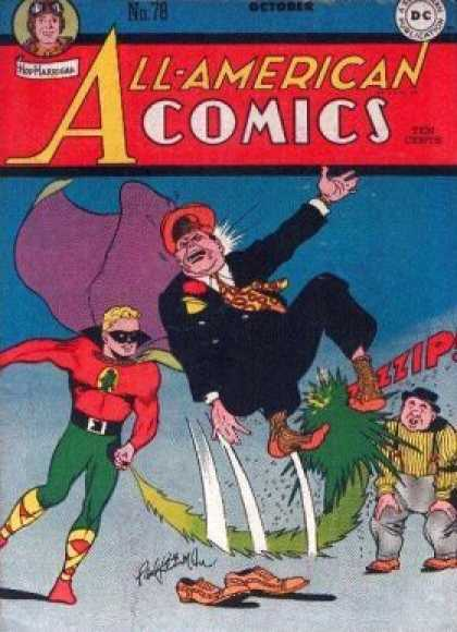 All-American Comics 78 - No 78 October - Zzip - Masked Man With Cape - Jump Out Of Shoes - Green