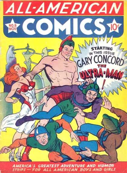 All-American Comics 8 - No8 - Nov - Gary Concord - The Ultra-man - Americas Greatest Adventure And Humor Strips