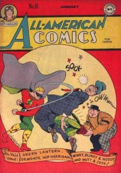 All-American Comics 81 - Green Lantern - Dr Mid-nite - Hop Harrigan - Winky Blinky And Noddy - Mutt And Jeff