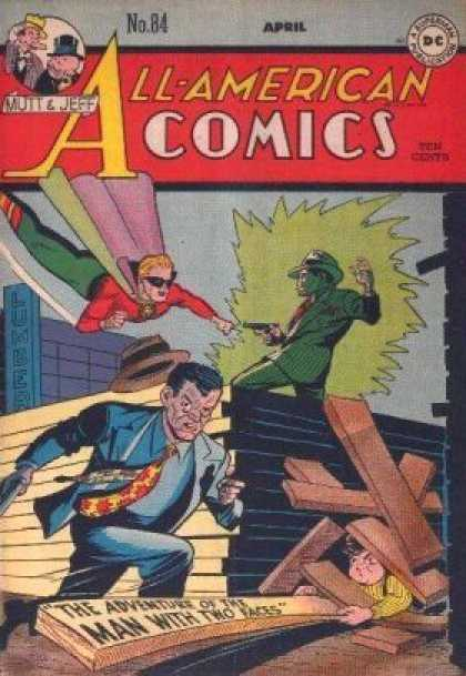 All-American Comics 84 - All-american Comics - Mutt U0026 Jeff - The Adventure Of The Man With Two Faces - Gun - Dc Comics