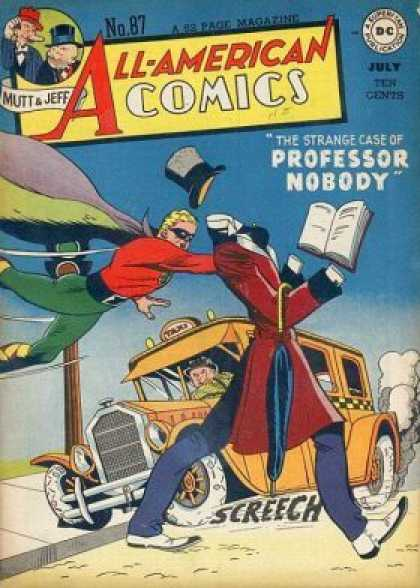 All-American Comics 87 - Professor Nobody - No 87 - Taxi - Flying Man - Mutt And Jeff