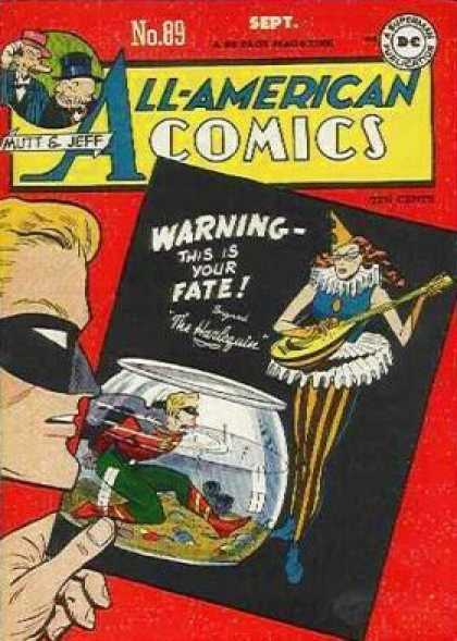 All-American Comics 89 - Mutt And Jeff - Dc Comics - Joker - Fish Bowl - Warning This Is Your Fate