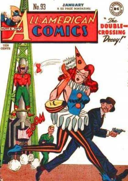 All-American Comics 93 - Classy Clown - Debbie Sings Zoom Zoom - Smack And Stash Sara - Up And Away Flash - Women Are The Bomb