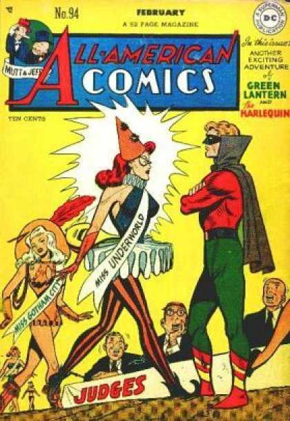 All-American Comics 94 - Witch - Mask - Cloak - Green Latern - The Harlequin