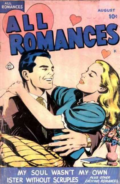 All Romances 1 - Blonde Girl - Hearts - August - Pink - Man And Woman