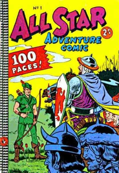 All Star Adventure Comic 1 - Shield - Sword - Viking - Robin Hood - Horse