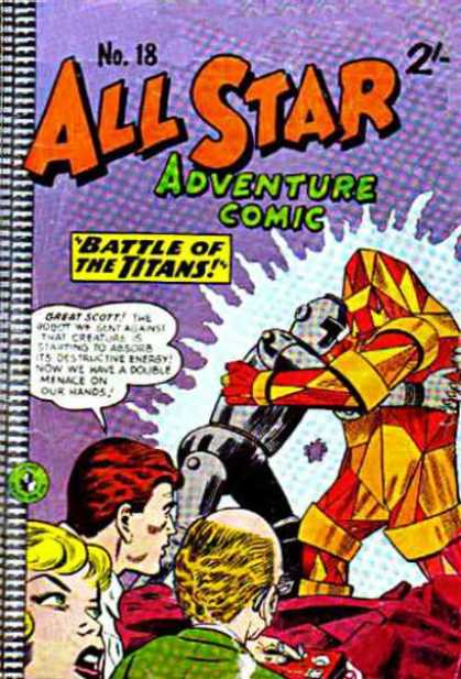 All Star Adventure Comic 18 - Battle Of The Titans - No18 - Crowd - Great Scott