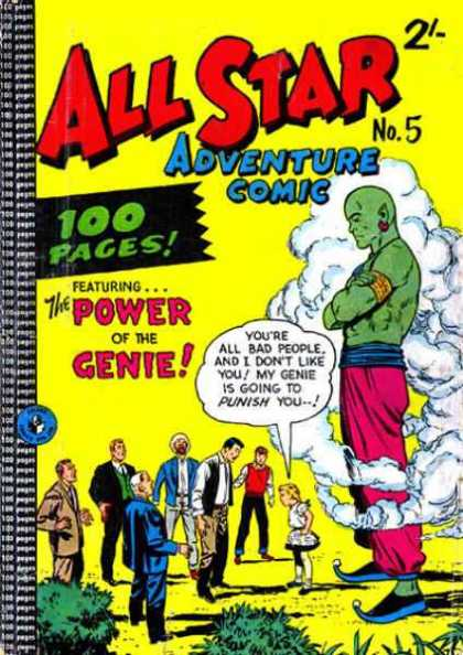 All Star Adventure Comic 5 - Genie Power - Power Of The Genie - Three Wishes - Smokin - Punishment