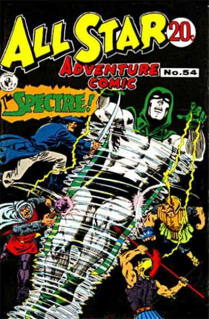 All Star Adventure Comic 54 - The Spectre - No 54 - Superheroes - Lightning - Spear