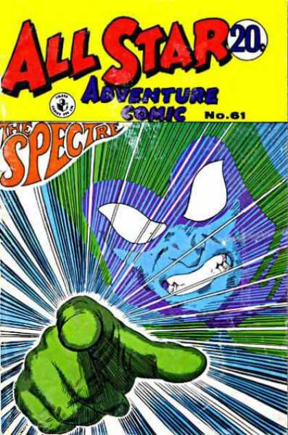 All Star Adventure Comic 61 - The Spectre - Face - Mask - Hand - No61
