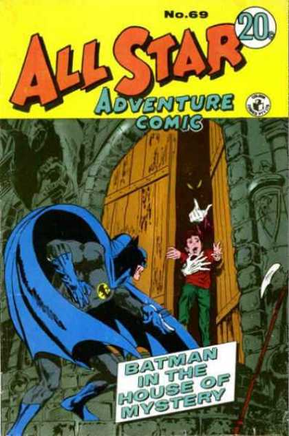 All Star Adventure Comic 69 - No69 - Batman - House - Mystery - Door