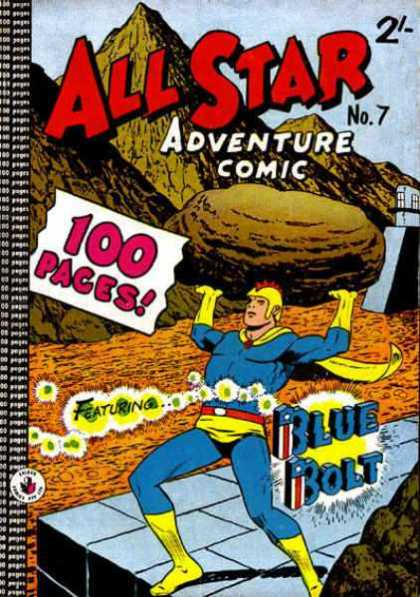 All Star Adventure Comic 7 - No7 - 100 Pages - Rock - Blue - Bolt