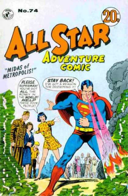 All Star Adventure Comic 74 - Superman - Superhero - Woman - Money - Soldier