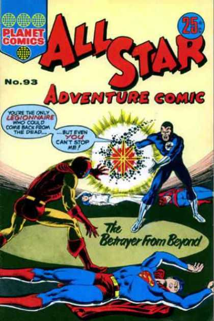 All Star Adventure Comic 93 - Legionnaire - Dead - The Betrayer From Beyond - Come Back From The Dead - Superman