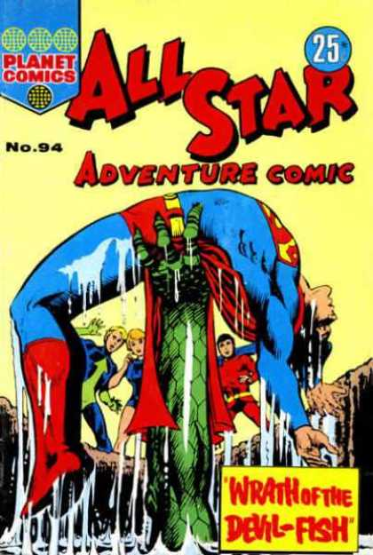 All Star Adventure Comic 94 - Planet Comics - Monster - Superman - Devil-fish - Superhero