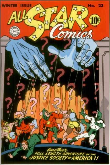 All Star Comics 23 - Puppeteer - Men In Tights - Puppet Strings - Stage - Superheros