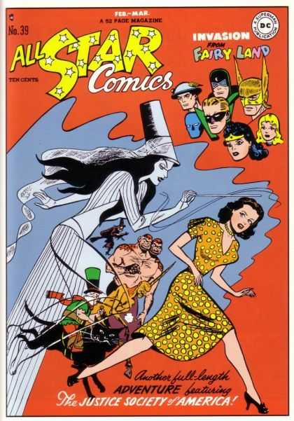All Star Comics 39 - Witch - Freak - Superheroes - Fantasy - Chasing