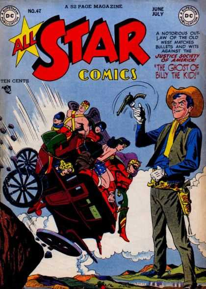All Star Comics 47 - All Star Comics - Billy The Kid - Cowboy - Justice Society Of America - Old West