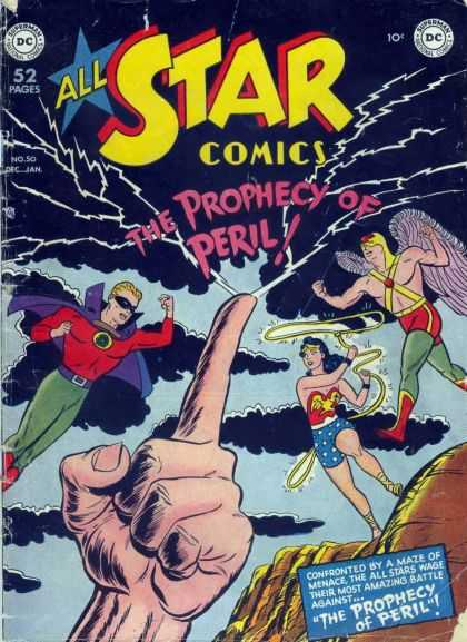 All Star Comics 50 - Dc - Dc Comics - Prophecy - Peril - Super Heroes - Bob Oksner